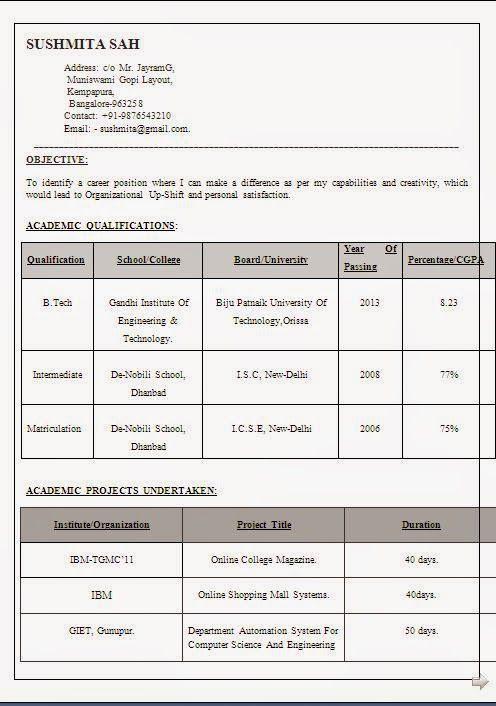 Ejemplo Curriculum Vitae Sample Template Example Ofexcellent