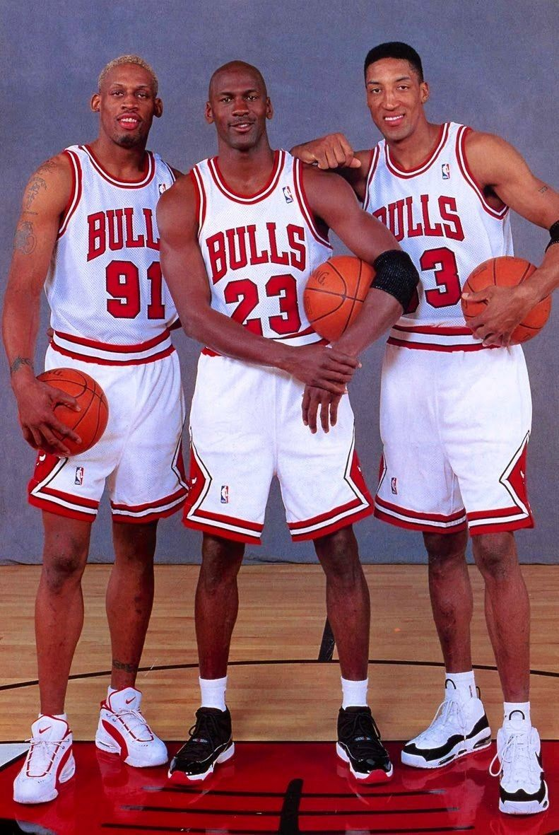 Dennis Rodman,Michael Jordan,Scottie Pippen Sports