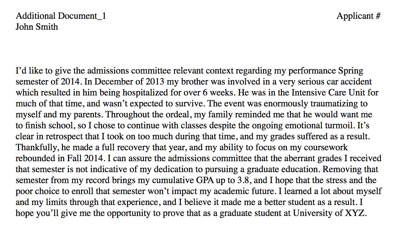 Low GPA explanation College essay, School essay, Sample