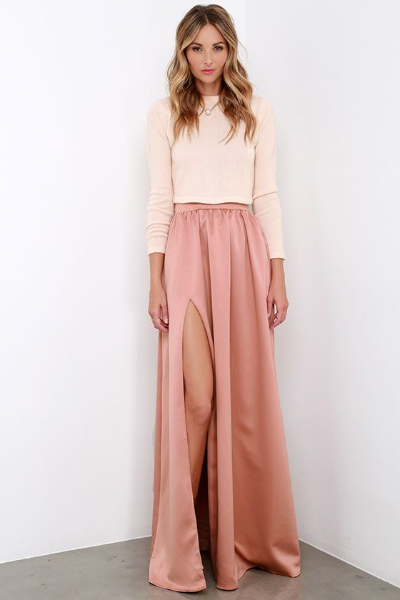 57dcc0cab Twas a Dream Blush Maxi Skirt | Style Fashion inspiration | Fashion ...