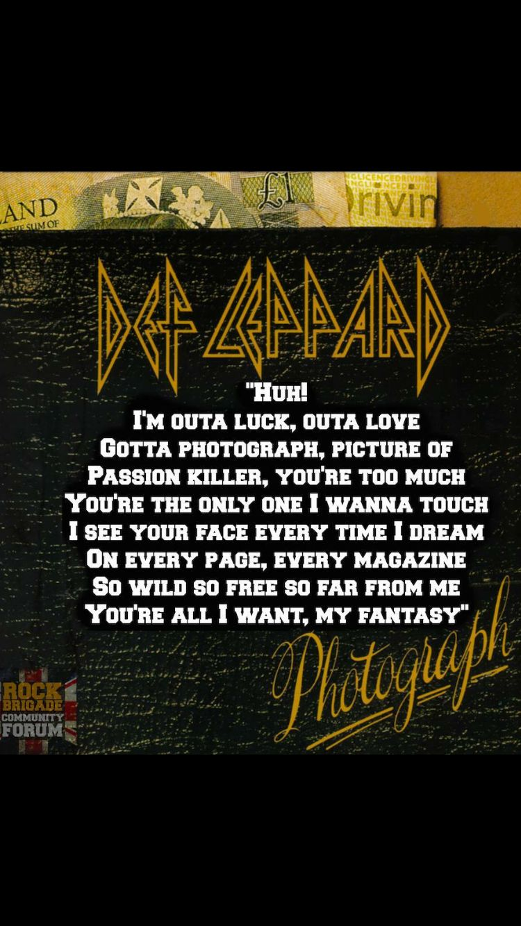 Def Leppard Song Lyrics MetroLyrics