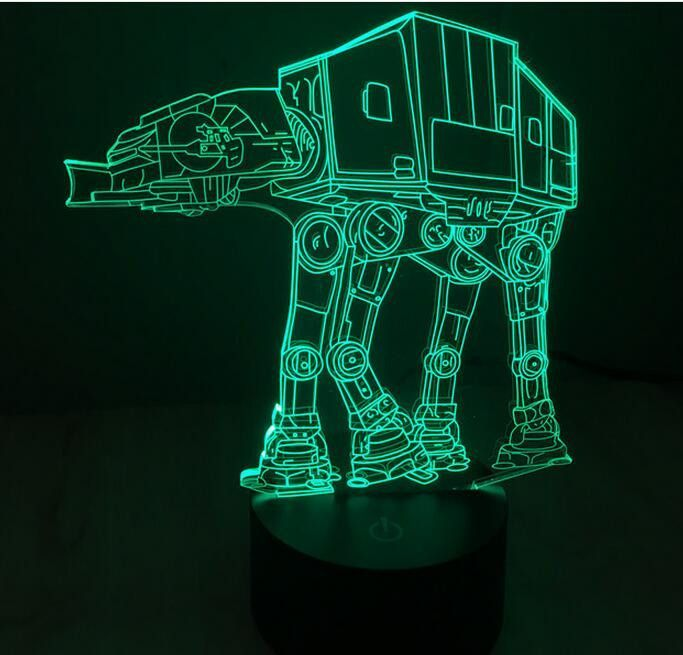 This Amazing Accent Led Light Creates A Holographic 3d Illusion Of Star Wars Characters In High Definition High 3d Led Light Color Changing Lamp Star Wars Lamp