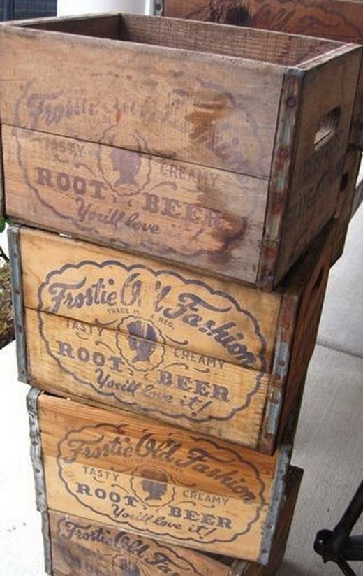 37 Vintage Craft Crate Ideas Fun And Creative Things To Do With Old Crates Vintage Wood Crates Crate Crafts Vintage Crates