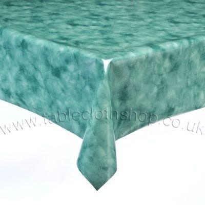 Green Vinyl Table Cover B4