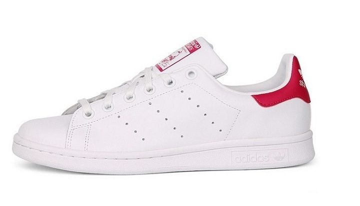 stan smith blanche et rouge femme