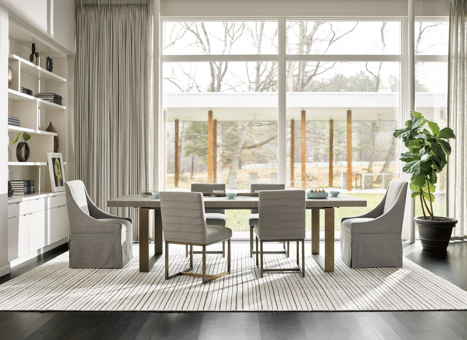 Attractive Modern Dining Table With 4 Chairs | HOM Furniture | Furniture Stores In Minneapolis  Minnesota U0026