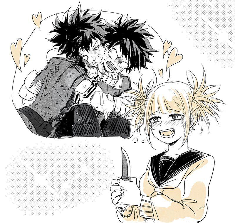 Characters Midoriya Izuku Himiko Toga Hero My Hero Anime