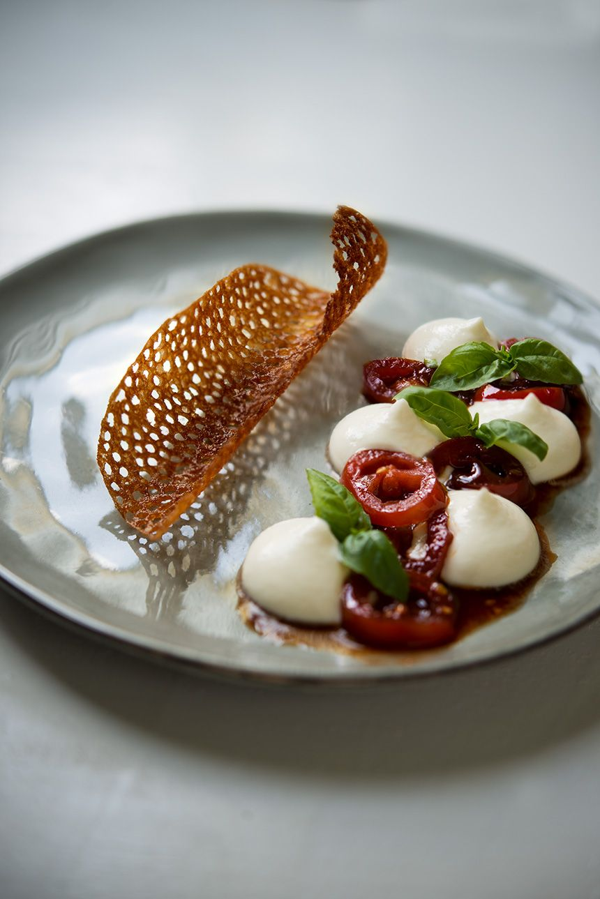 Photo of Dolce Caprese – Burrata | caramelized tomatoes | Olive Oil Chips »Viennese …