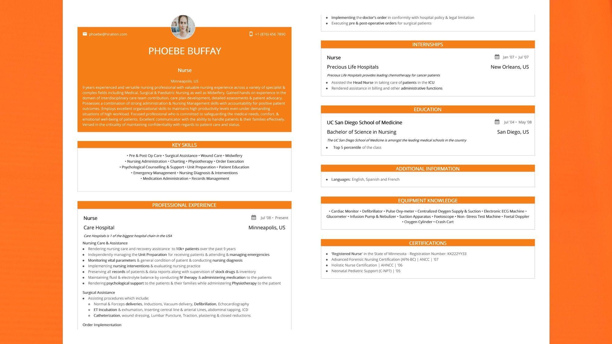 Nursing resume 2020 guide to nursing resumes samples
