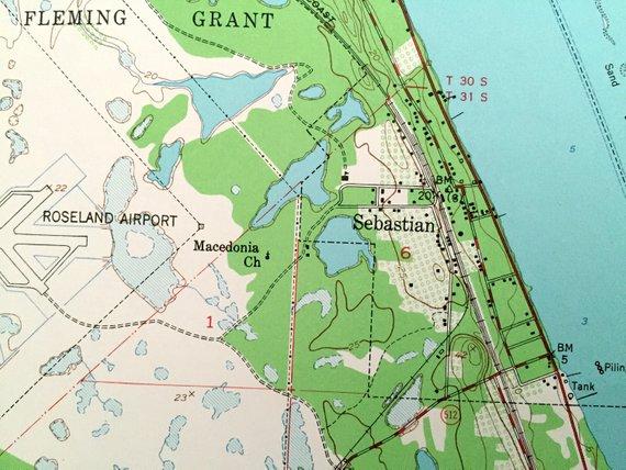 Antique Sebastian, Florida 1949 US Geological Survey ...