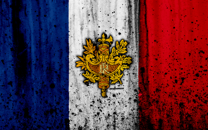 Download Wallpapers French Flag 4 Grunge Of France Europe