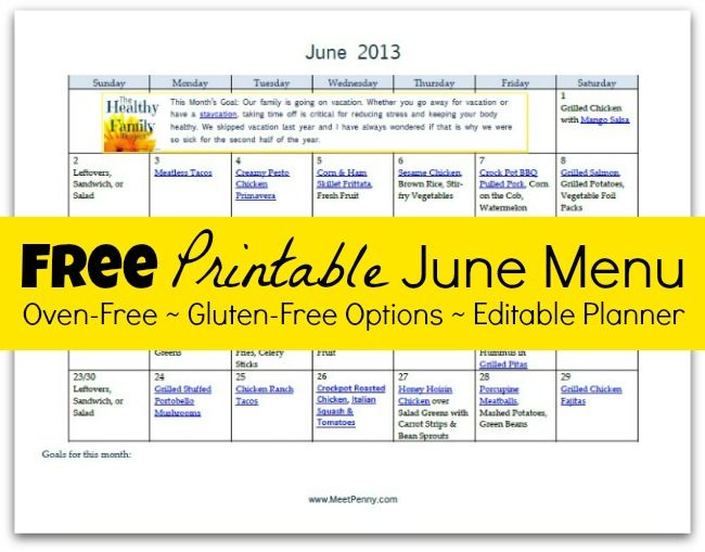 My Frugal Pantry List With Free Printable Gluten Free Meal Plan