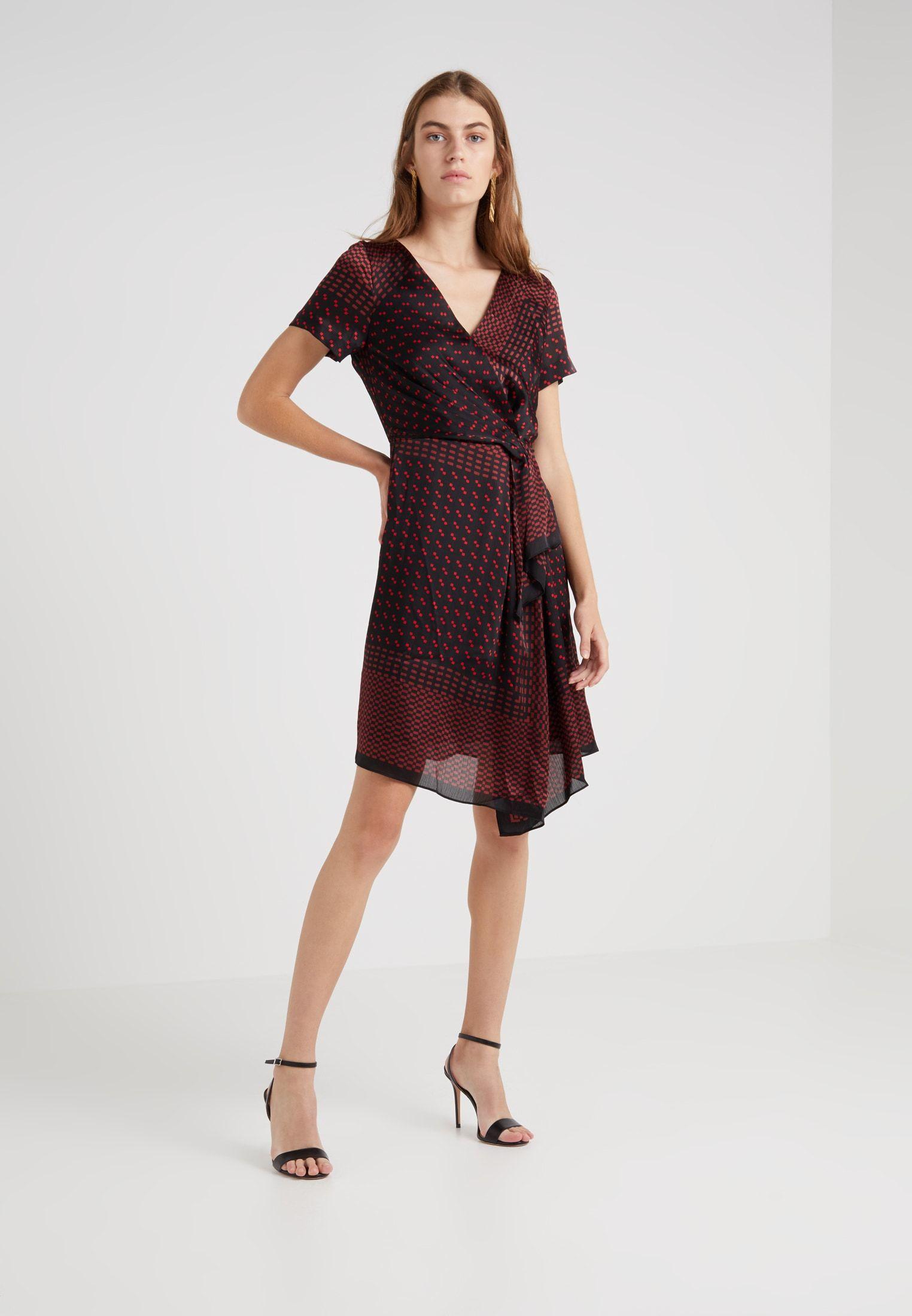 Club Monaco TARTEEN DRESS - Day dress - red - Zalando.co.uk   Dress ... d279f4a786f