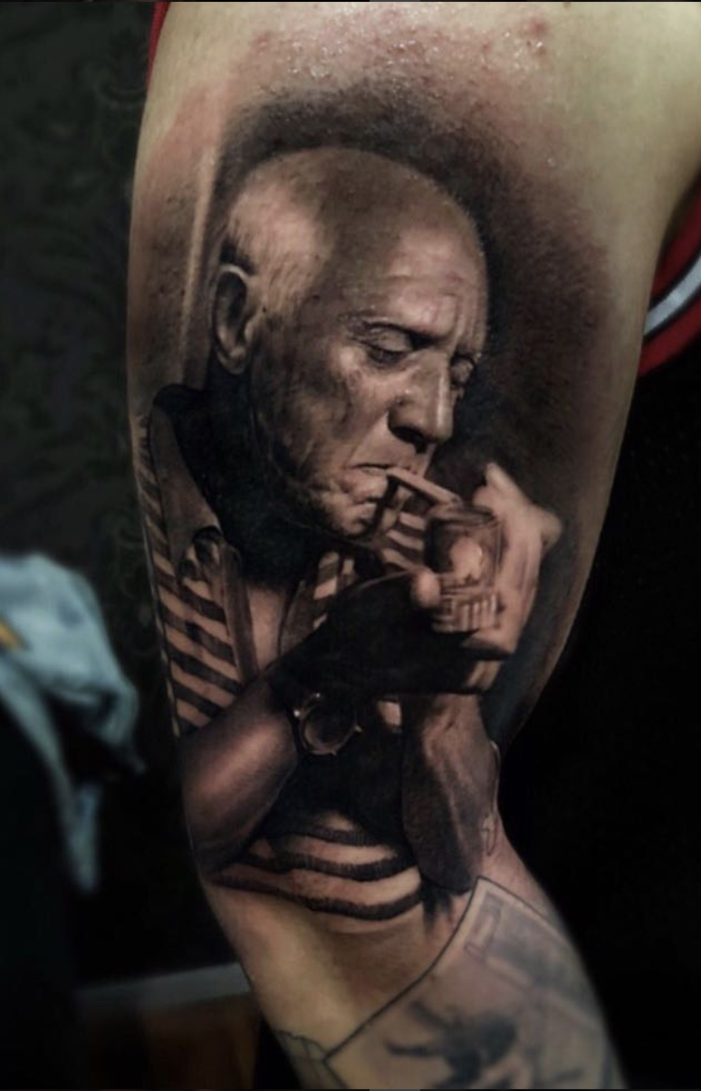 747f7cc42c025 Pablo Picasso, realizado por Ganga Tattoo. Realismo Blanco y Negro ...