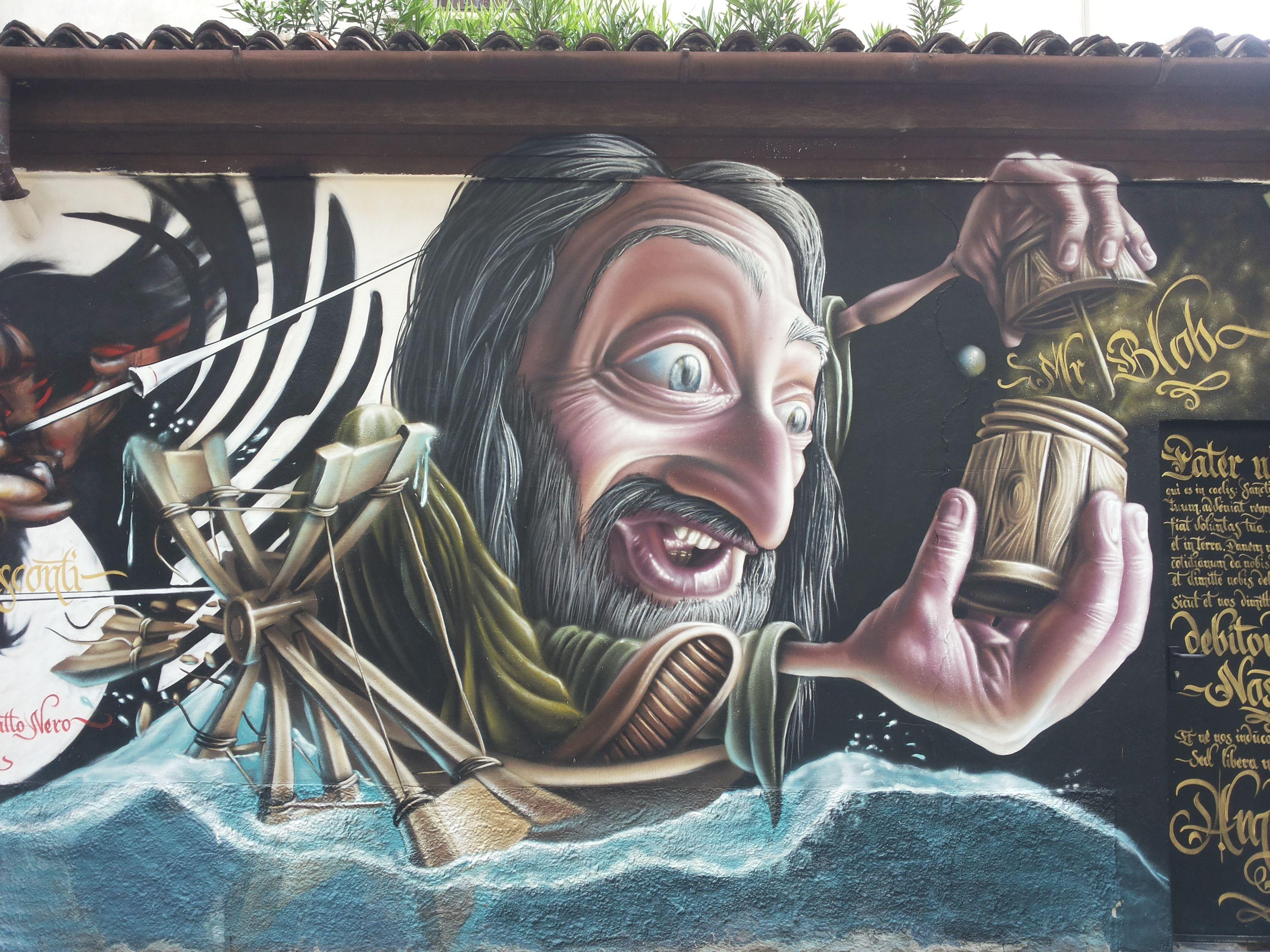 Graffiti By San Lorenzo Church Milano Leonardo Da Vinci