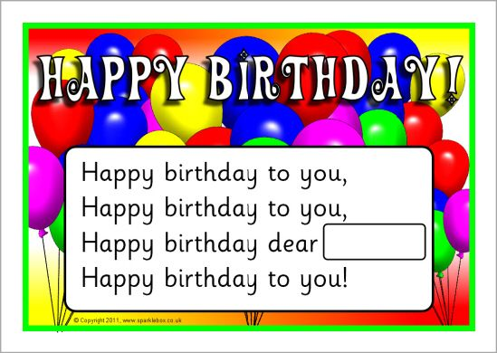 Happy Birthday Song Poster Sb3943 Sparklebox Maori Resources