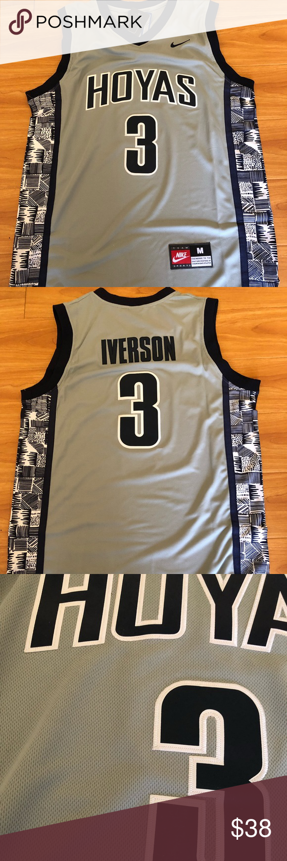 466eef92 Allen Iverson #3 Georgetown Hoyas Jersey Brand new with tag, all the  numbers and letters are stitched Nike Shirts Tank Tops
