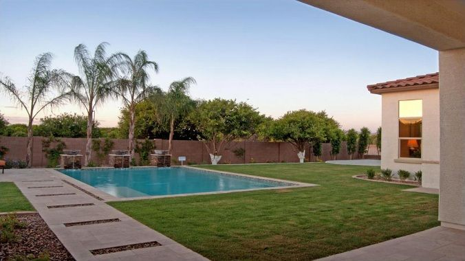 Swimming Pool In A New Home By Taylor Morrison Swimming Pools Pool Backyard