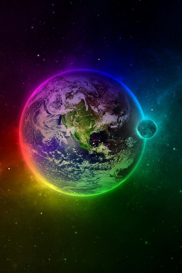Madre Terra Rainbow Nel 2019 Galassie Spazio E Iphone 4s