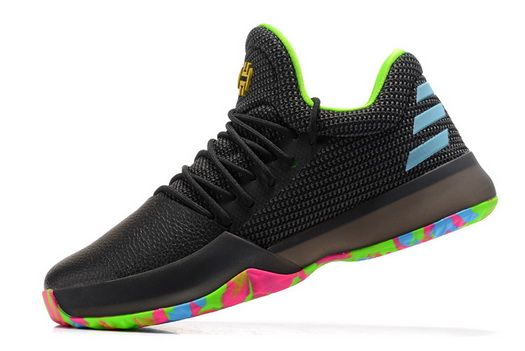 f74159ad237c Adidas Harden Vol.1 Rise And Shine Black Multicolor Cheapest and Newest Shoe