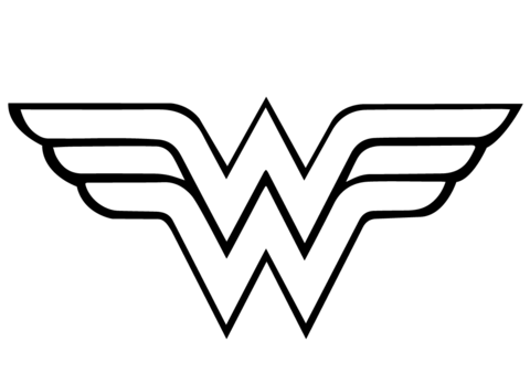 Wonder Woman Logo Dibujo para colorear | WW | Pinterest | Wonder ...