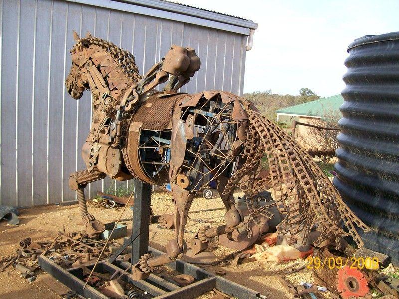 progress_7.JPG 800×600 Pixel Metal art sculpture, Scrap