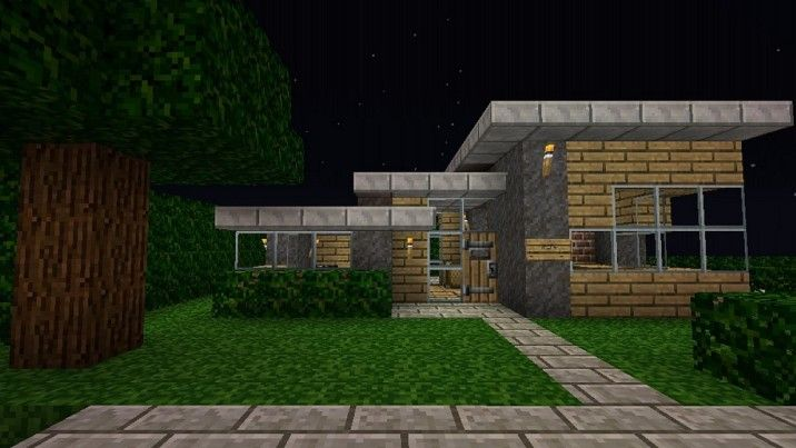 architecture ideas : simple design minecraft small modern house with