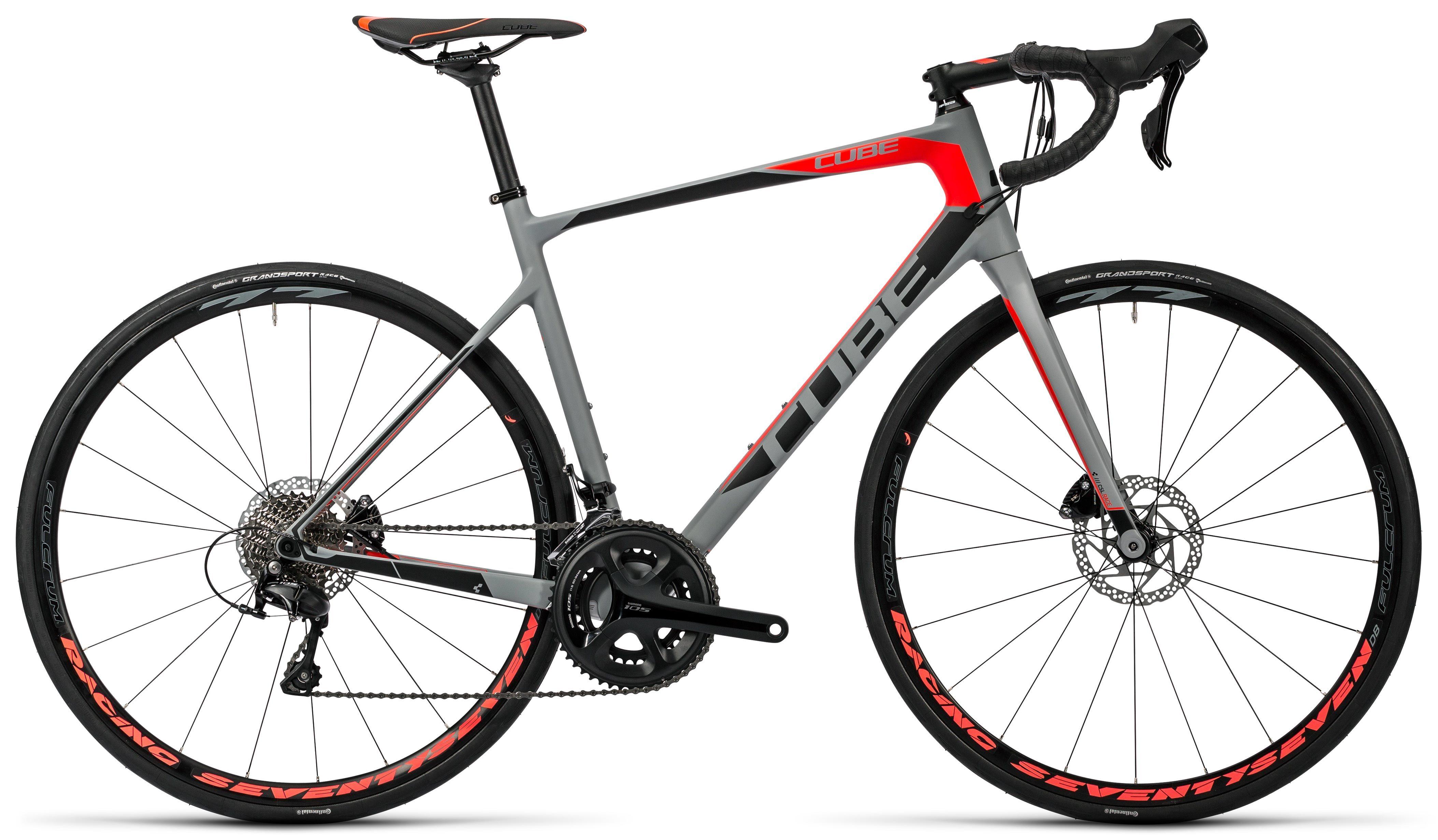 CUBE Attain GTC Pro Disc grey´n´flashred 2016 | Bike graphic design ...