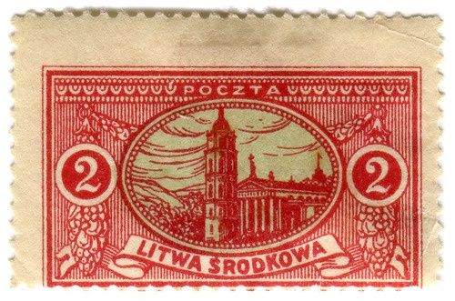 1921 lithuania postage stamps