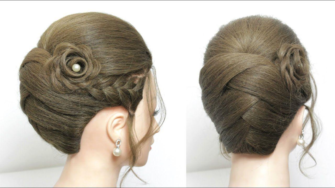 Bridal Hairstyle Tutorial Updo For Long Medium Hair Step By Step Youtube Medium Hair Styles Long Hair Updo Long Hair Tutorial
