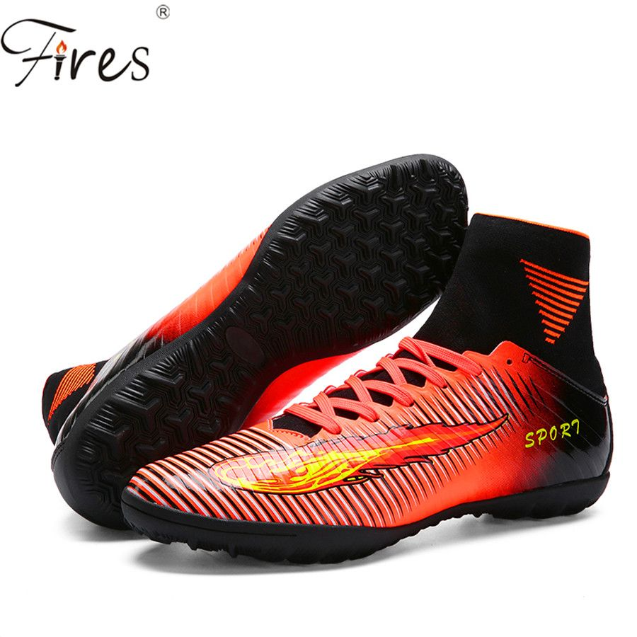 Fires 2017 New Men High Ankle Soccer Shoes /Boots woman Football /Shoes Boot  Boys
