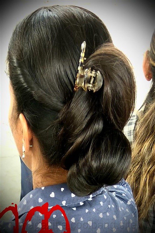 pince à cheveux élastique en 2020 Chignon cheveux long