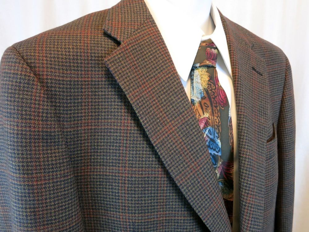 Austin Reed Dillards Houndstooth Plaid 42 R Sport Coat Two Button Blazers For Men Blazers Sport Coats Sport Coat