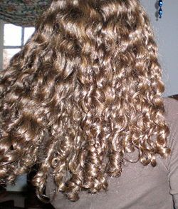 Curly Girl method for curly hair