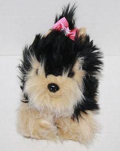 Hallmark Yorkie Dog Puppy Black Tan Plush Stuffed Animal Pink