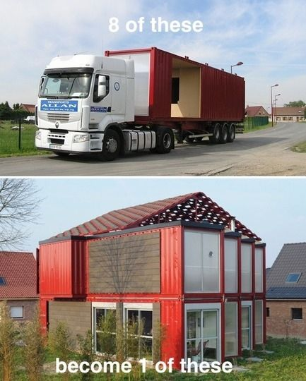 8 Shipping Containers Equal 1 Family Home