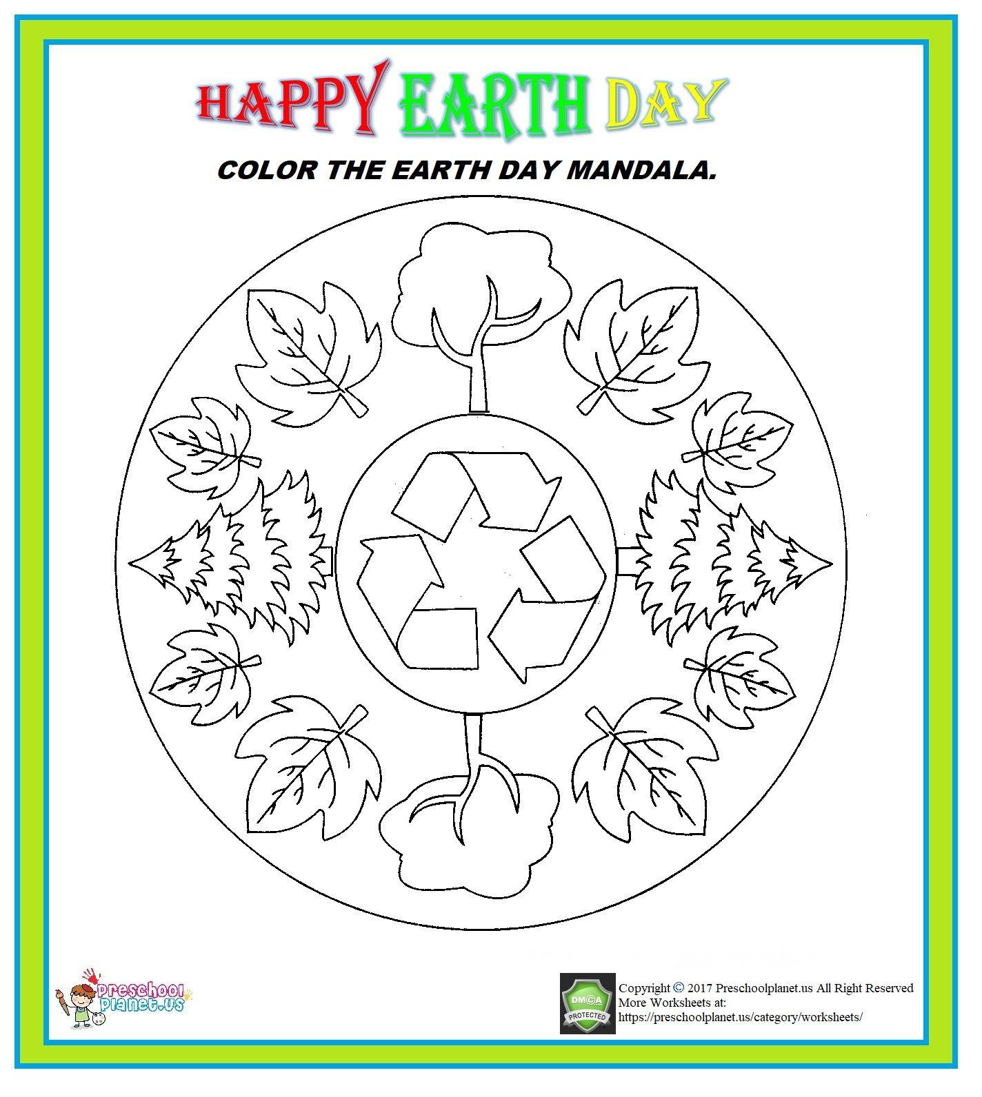 Earth Day Mandala Worksheet