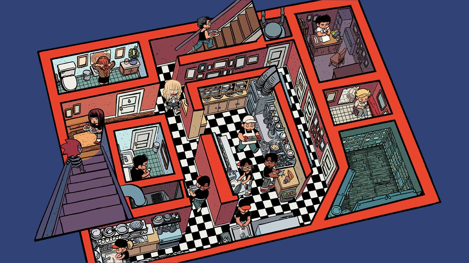 """My favorite page from Bryan Lee O'Malley's New book """"seconds"""" [1920x1080]"""