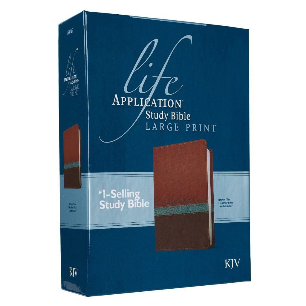 Study Bible in Large Print KJV Bible Life Application
