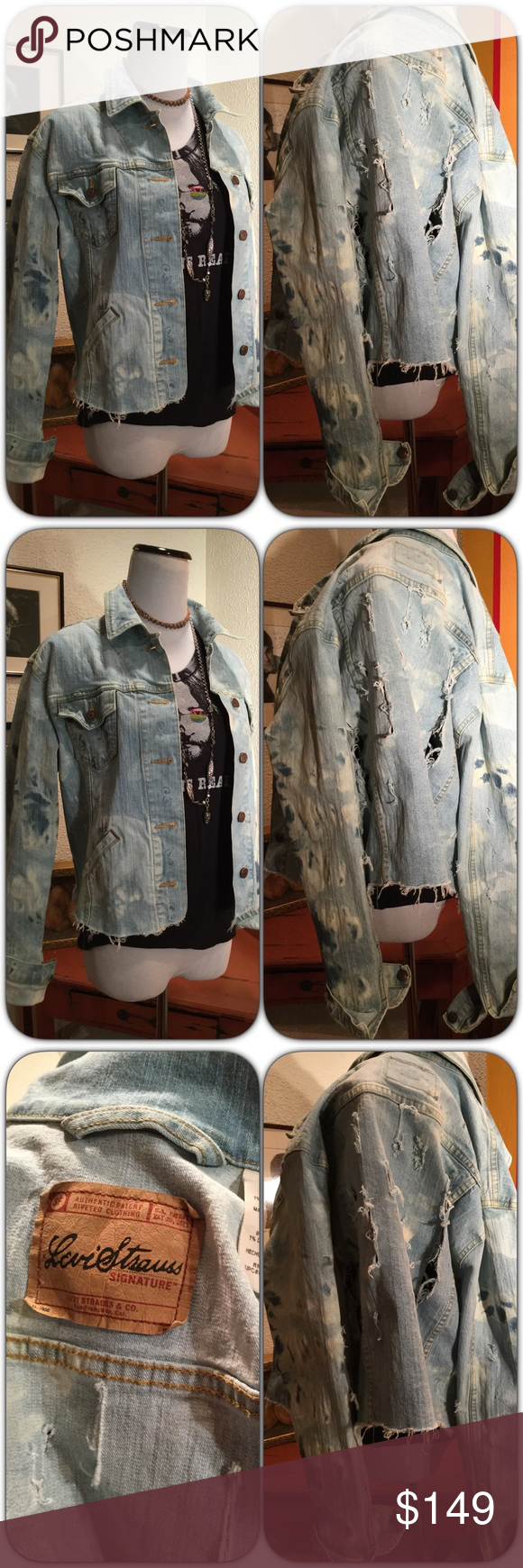 Custom Shredded Jean Jacket Similar jackets at Barneys and other ...