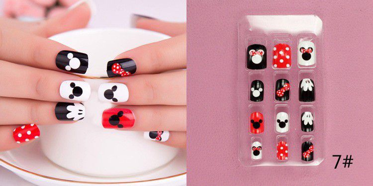 Find More False Nails Information About 24pcs False Nails Decorated