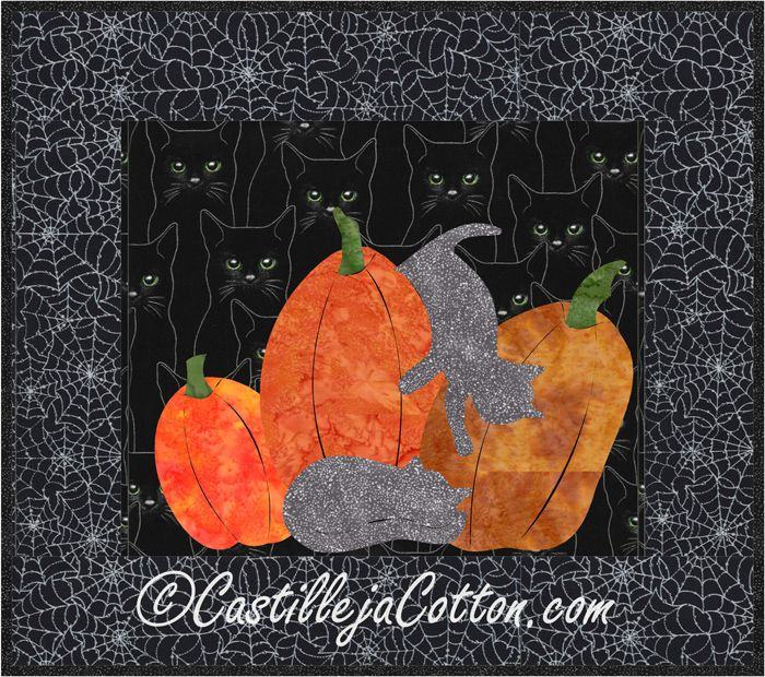 Fusible Applique Wall Hanging For Halloween Fall Cats And Pumpkins Quilt Pattern Cjc 4165 Halloween Quilt Patterns Fish Quilt Pattern Pumpkin Quilt Pattern