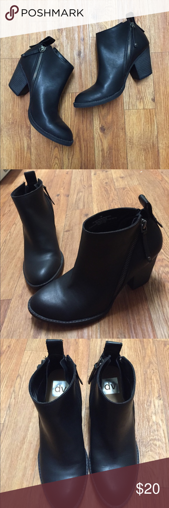 f140350db403 DV Jameson Double Zip Booties 7.5 Black and new without tags. Size 7.5  these are DV from target. DV by Dolce Vita Shoes Ankle Boots   Booties