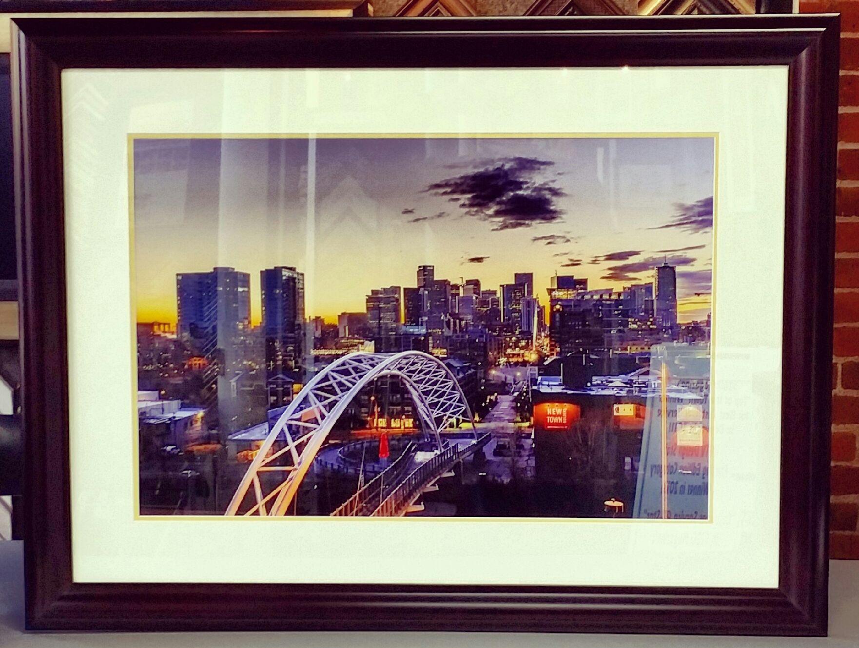 Denver\'s 16th Street Bridge! Beautiful photo framed with Studio ...