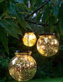 Solar Stake Light - Northern Lights Sphere | Gardeners.com