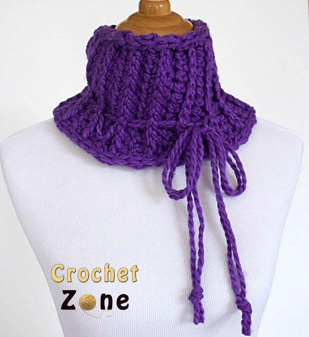 Increíble Crochet Patrón De Bufanda Con Capucha Libre Viñeta - Ideas ...