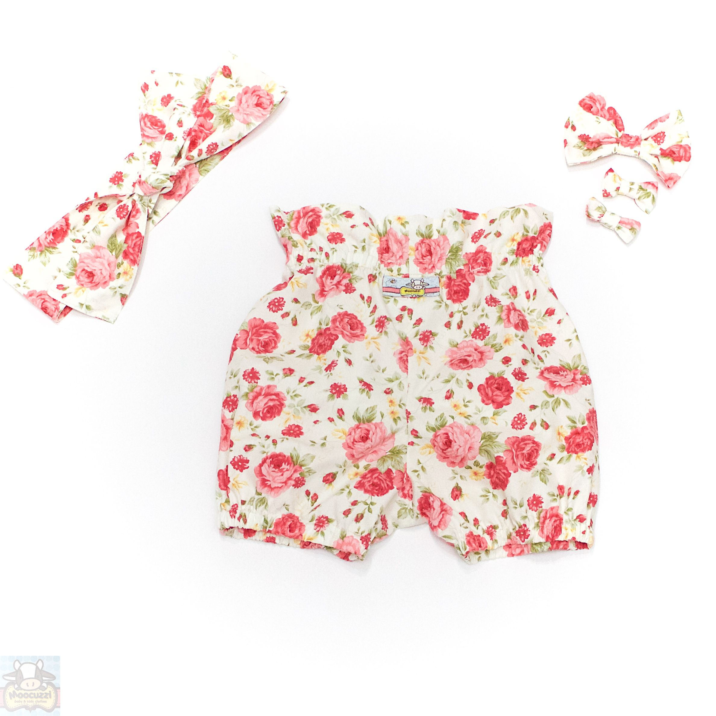 Arabella Bloomers, Headscarf, Large Bow and Mini Bow