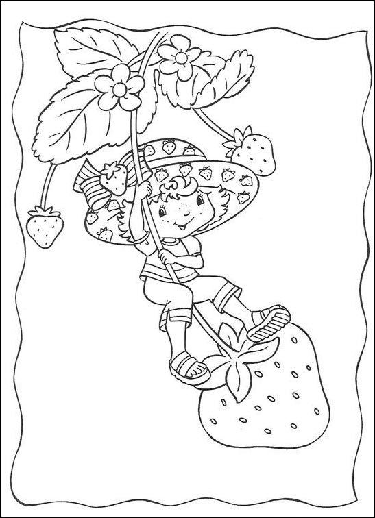 Dibujos para Colorear Fresita-Tarta de Fresa 12 | Dibujos para ...