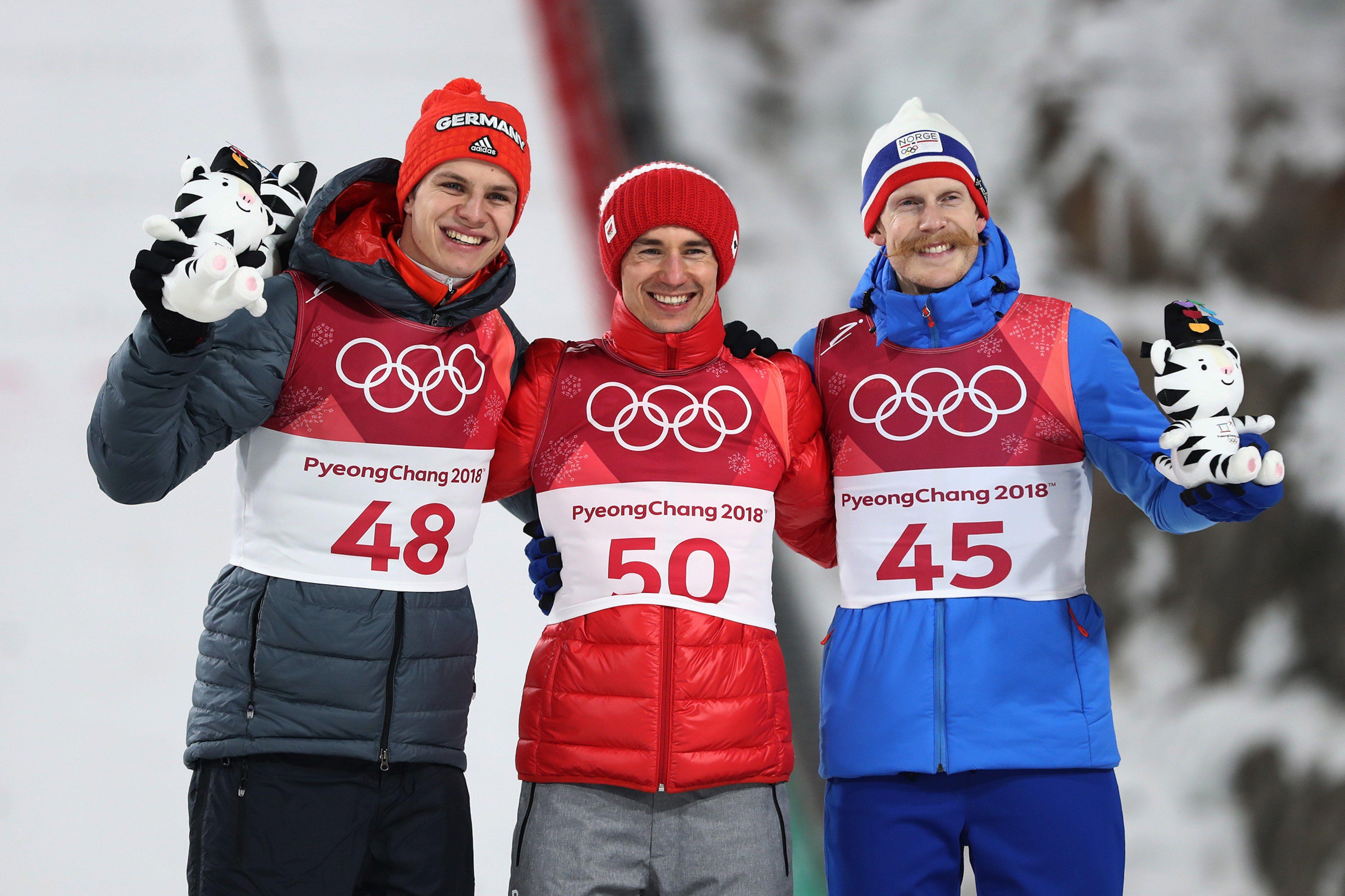 Ski Jump Men S Large Hill Gold Kamil Stoch Poland Silver Andreas Wellinger Germany Bronze Robert Johansson Ski Jumping Winter Olympics Ski Jumper