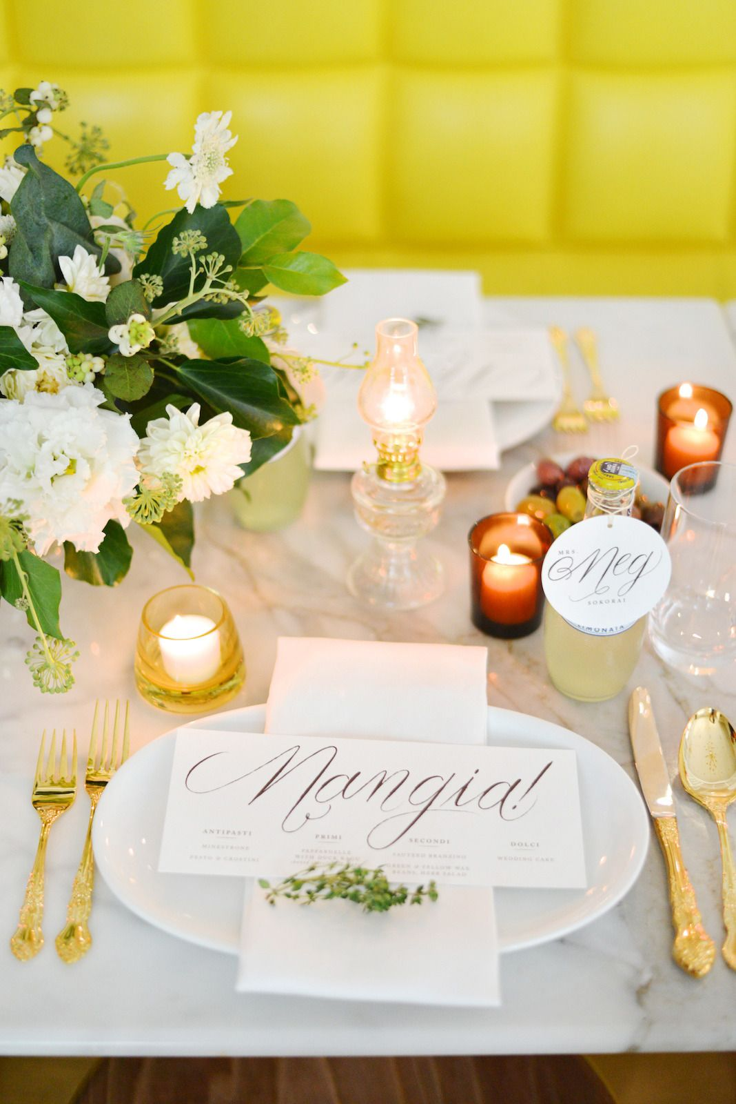 Yellow Inspiration Shoot From Jessica Schmitt Roey Mizrahi Events Beautiful Table Settings Wedding Reception Centerpieces Rose Centerpieces